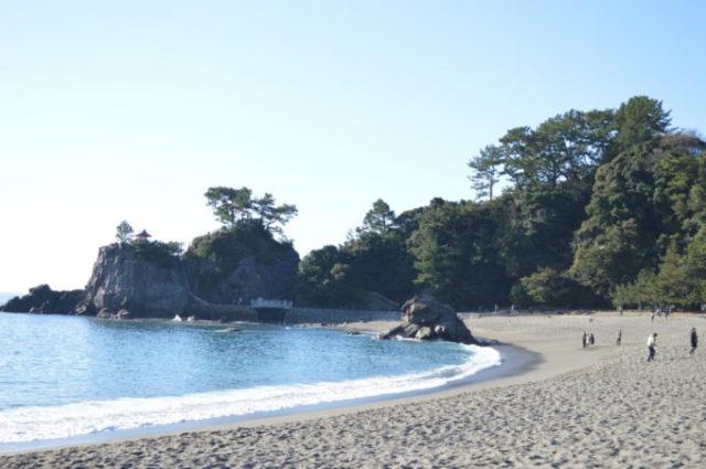 太平洋に臨む海岸